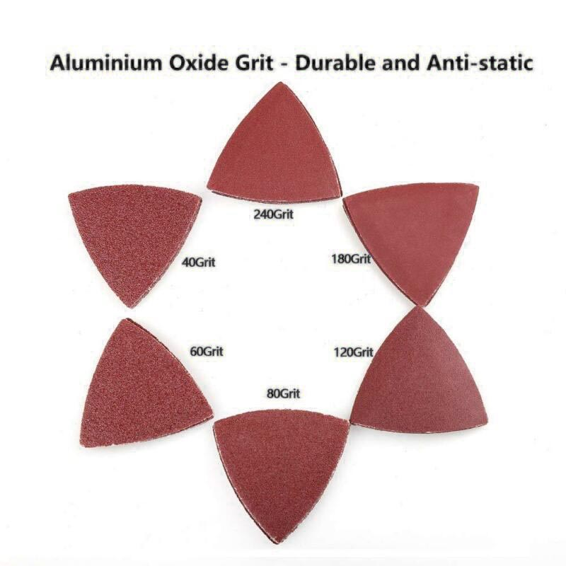 Sanding Grinding Papers Set Triangle Sanding Pads Hook And Loop Assorted Sandpaper For Oscillating Multitool High Quality