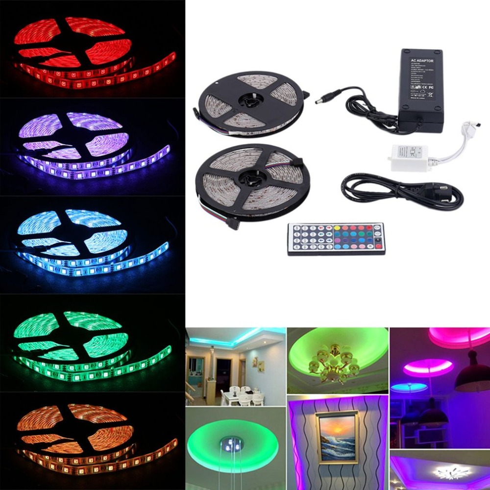 10m Rgb 5050 Smd Led Waterproof Light Strips With Remote