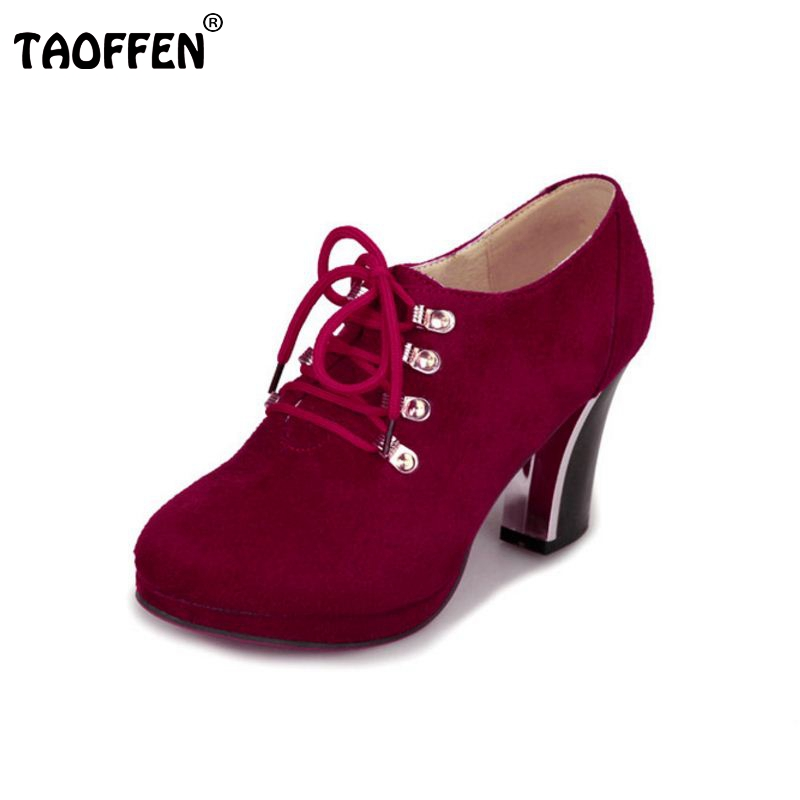Women Boots Fashion Flock High-heeled Platform Ankle Boots Lace Up High Heels Spring Autumn Shoes For Women Size 32-45 high quality genuine leather women shoes spring and autumn high heels women boots hollow out lace ladies fashion boots