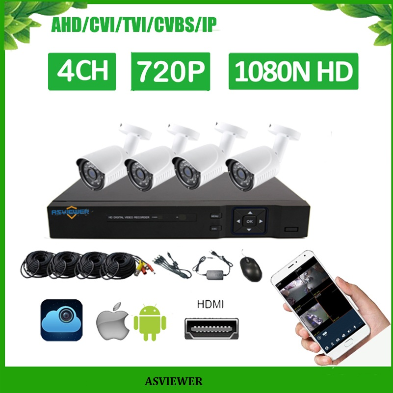4CH DVR Kits Support 5 in 1 DVR 4PCS 720P IR Outdoor bullet Camera Home Security System Surveillance Kits AS-MVK2204E-H4CH DVR Kits Support 5 in 1 DVR 4PCS 720P IR Outdoor bullet Camera Home Security System Surveillance Kits AS-MVK2204E-H