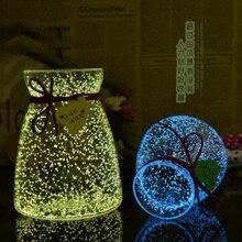 Urijk Волшебные флуоресцентные в темноте светящиеся вечерние с яркой звездой бутылки желаний частиц светящийся песок детские игрушки