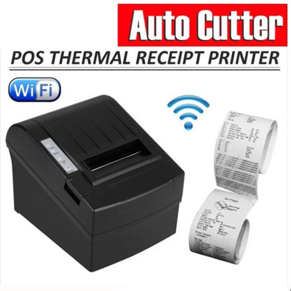 POS 8220 PortableAnet Wireless WIFI POS Thermal Receipt Printer 80mm Auto Cutter USB+WIFI Waterproof Oil proof Thermal Printer