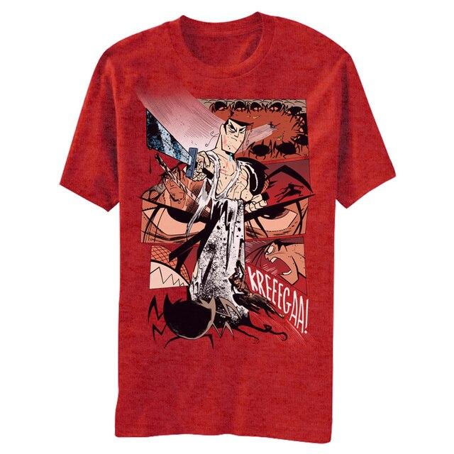 Gildan Funny T Shirt Men Novelty Tshirt Samurai Jack Kreegaa T