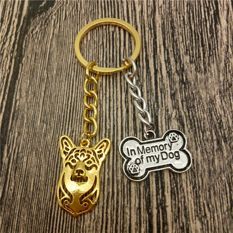 Pembroke Welsh Corgi Key Chains Fashion Pet Dog Đồ Trang Sức Pembroke Welsh Corgi Xe Keychain Bag Keyring Cho Phụ Nữ Người Đàn Ông