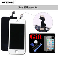 Best AAAA Compatible Touch Screen For IPhone 5s Replacement Assembly LCD Display Digitizer Panel With Tempered