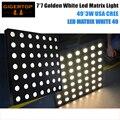 TIPTOP 7X7 Led Matrix Light Gold Color USA Cree 3w Lamp 50cm x 50cm Slim Case Chain Connect Support Stage Beam Light DMX Control