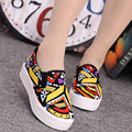 Newest Autumn Women Trendy Lady Casual Fashion Canvas Shallow Low Slip On Thick Platforms Flat Boards Shoes Plimsoll Zapato G123