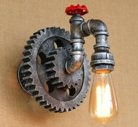 American industry wall lamps water pipe wall lighting fixture Vintage Iron Loft Aisle Wall Lamp For Balcony