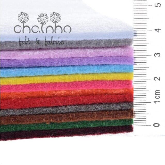 Włóknina, o grubości 3mm, poliester akrylowe grube filcu, diy materiał do szycia dla lalek/rzemiosło/zabawki, jednolity kolor, 13 sztuk 30x30cm