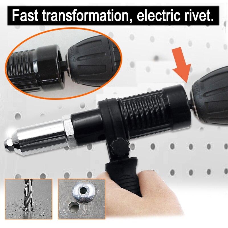 Electric Rivet Nut Riveting Tool Cordless Riveting Drill Adaptor Insert Nut Tool Multifunction Nail Auto Rivet