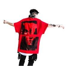 dd4b053b8b Casual T Shirt Dos Homens de Impressão Branco Hip Hop Streetwear Camisas  Engraçadas de T Dos