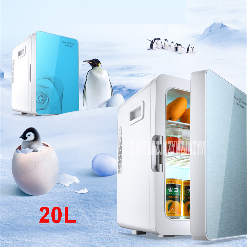 F-L18SA Portable Freezer 20 L Mini Fridge Refrigerator Car Home A Dual Use Compact Car Fridge 12/220 V Temperature Variations стоимость