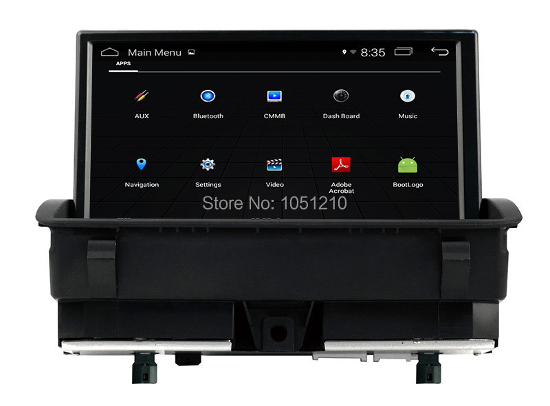 Ouchuangbo 8 inch car audio radio for Q3 2011-2015 support gps navigation Bluetooth 1080P android 4.4 system