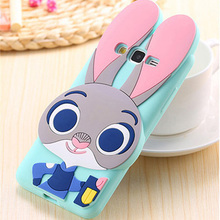 3D Cartoon Judy Soft Silicone Case Cover For Samsung J1 J2 J3 J5 J7 A5 A7 2015 / J120 J210 J310 J510 J710 A510 A710 2016 / 2017