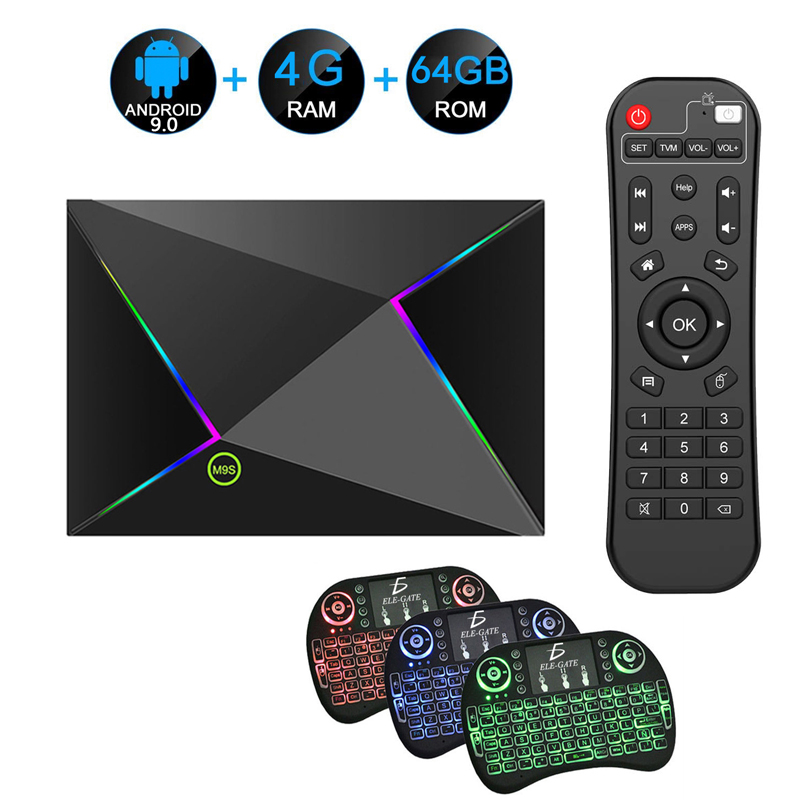 M9S Z8 Smart TV Box Android 9.0 4GB Ram 64GB Rom 6K H.265 USB3.0 Netflix Allwinner H6 Quad Core PK T95Q s905x2 décodeur