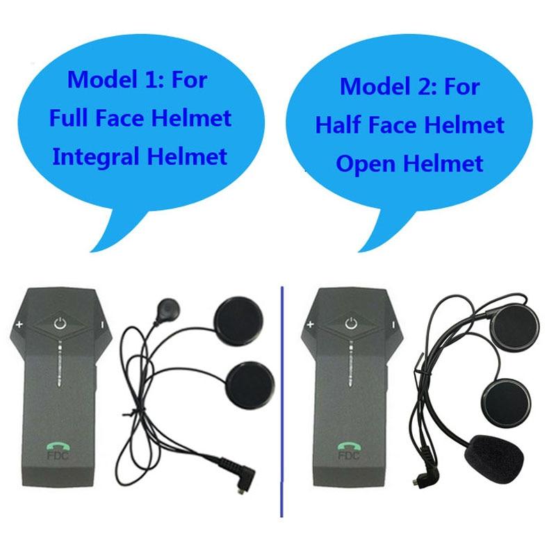 2 way 1000M intercom BT interphone bluetooth motorcycle Motorbike helmet Headset Support NFC Tech with FM raido-in Helmet Headsets from Automobiles & Motorcycles    1