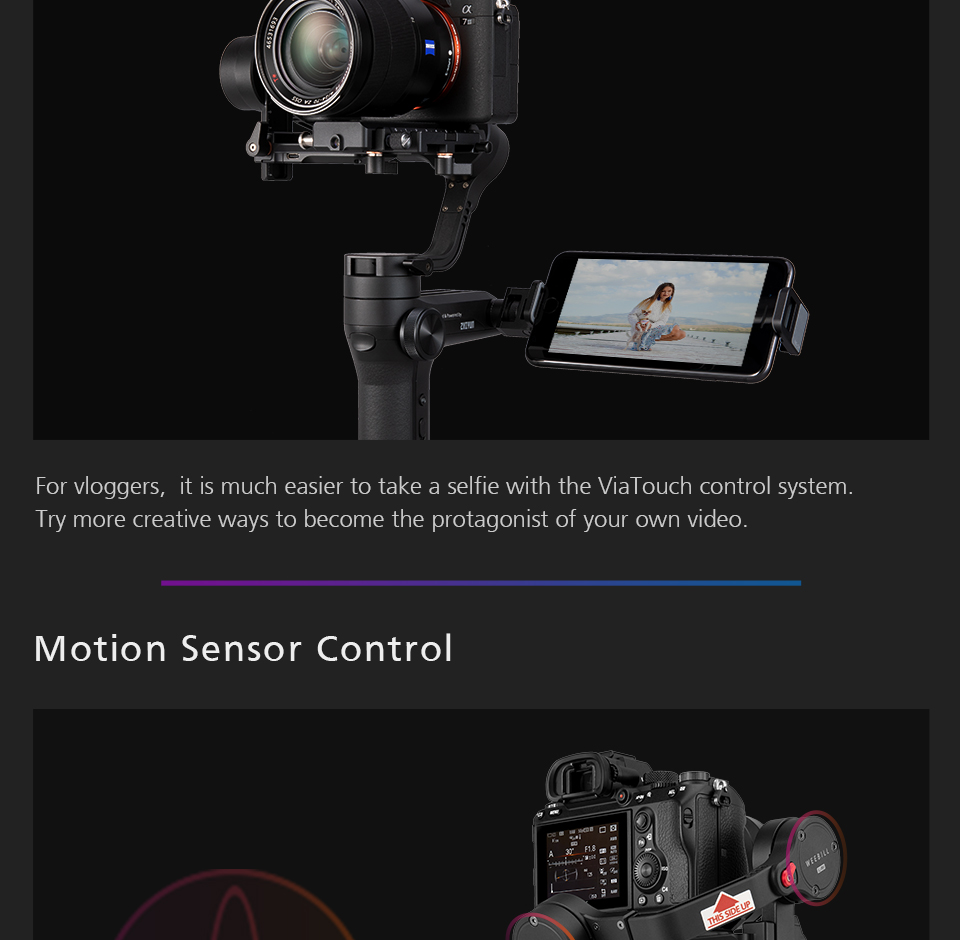 Zhiyun WEEBILL LAB 3-Axis OLED Display Stabilizer For Sony Panasonic GH5s Mirrorless Camera Handheld Gimbal With Focus Control 9