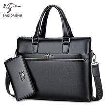 купить Men's Genuine Leather Messenger Crossbody Bags Briefcase Business Composite Shoulder Bag Leather Classic Casual Handbag онлайн