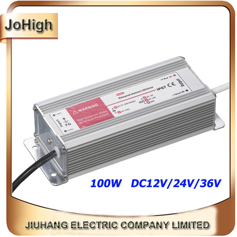 Free Shipping Single Output Switch Power Supply Waterproof Switching Power Supply 100w DC12V