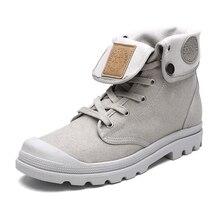 Nouveau Mode Bottes Hommes Toile Chaussures Printemps Hommes Cheville Bottes Casual Chaussures Hommes Botas Haute Qualité Hommes Chaussures