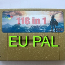 Супер 118 в 1 видеоигры картридж для Snes 16 бит Multicart PAL(версия ЕС) Английская литература Батарея сохранить файл