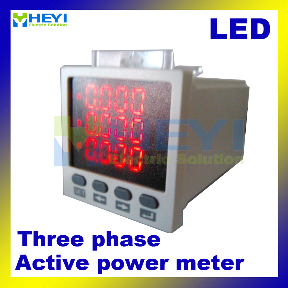 3 phase digital active power meter 48*48 mm LED digital panel meter HY-3P power meter manufacturers