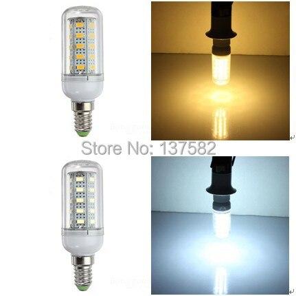 DHL Бесплатная доставка 100 шт. SMD 5730 Светодиодные лампы 24 шт. 36 шт. 48 шт. 56 шт. E14 свет теплый белый/холодный белый AC220V/AC110V
