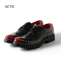 Brand Men Brogue Shoes Platform Men Oxfords Shoes British Style Creepers Cut Outs Flat Casual Luxury