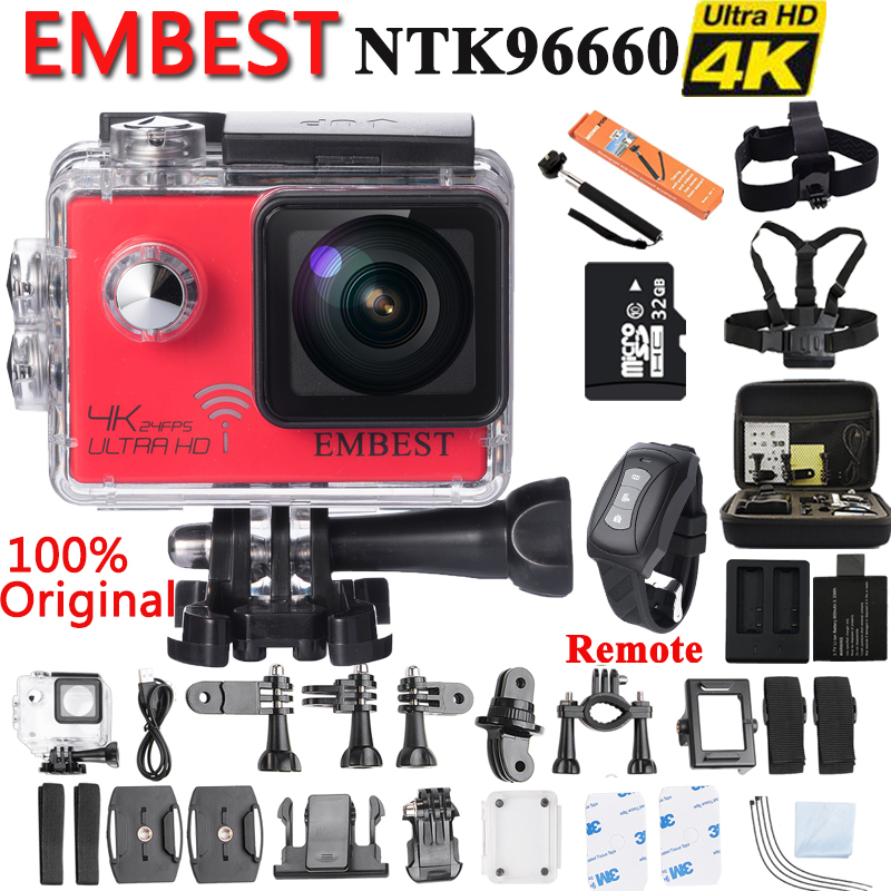 Galleria fotografica EMBEST EM61 / EM61R Ultra HD 4K 24fps Sports Action Camera Waterproof With WiFi Remote Control Built in Gyro Night Vision