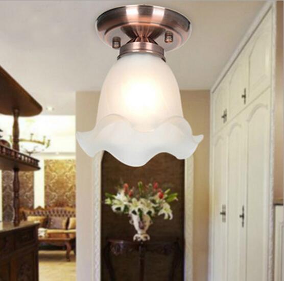 Nordischen Stil Retro LED Deckenleuchten Wohnzimmer Vintage Plafonnier Lamparas De TechoChina
