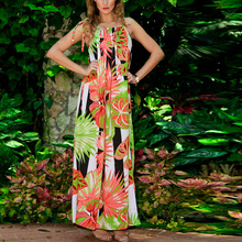 2017 Women Stylish Bohemia Floral Printed Sleeveless Beach Dress Casual Party Summer Spaghetti Strap Long Dress