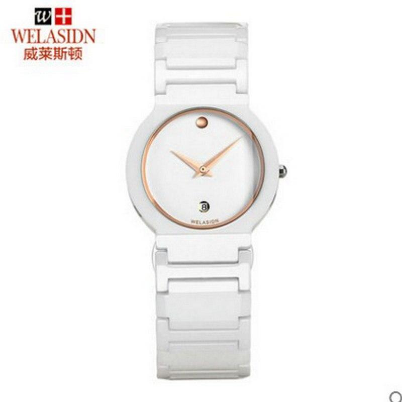 New Arrivals fashion watch waterproof ultra thin ceramic crown relogio feminino masculino Quartz Wristwatch Lady Dress