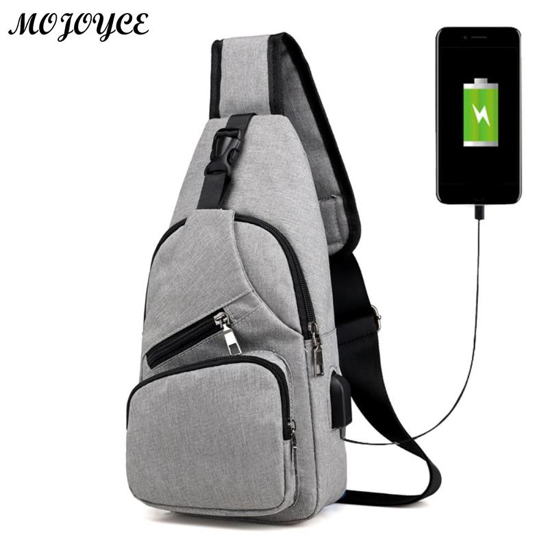 Men Casual Chest Pack Canvas USB Charging Crossbody Bags for Men Shoulder Handbag Fashion Travel Cross Body Bag Male Chestbags vintage canvas chest bag men new crossbody shoulder bag multifunction casual travel bag fashion large capacity chest bag for men