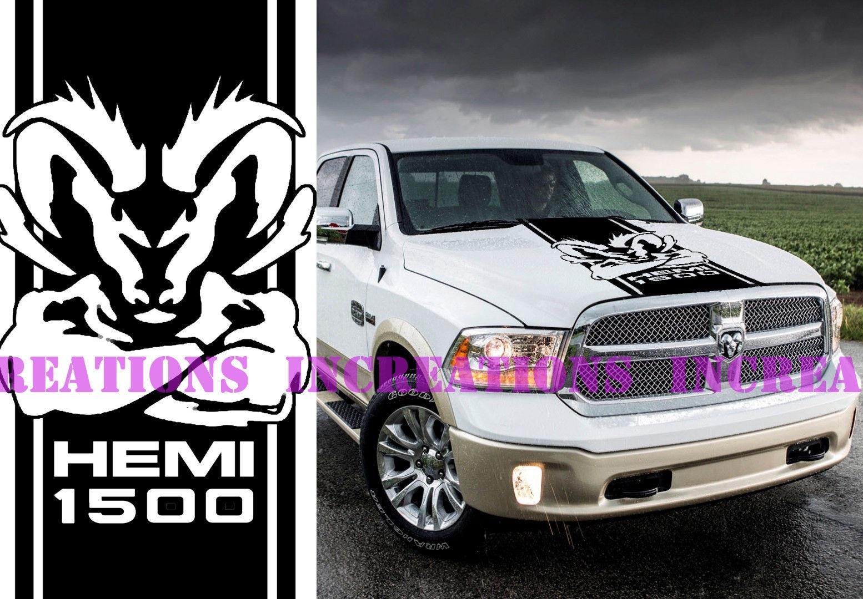 Dodge Ram 1500 Rebel X2 Decals Vinyl Stickers Hemi 5 7 L Hood Graphics Rt Mopar