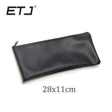 ETJ Marca 5 Pçs/lote Acessórios Bolsa De Couro Bolsa De Couro Microfone Com Fio Microfone Sem Fio do Microfone