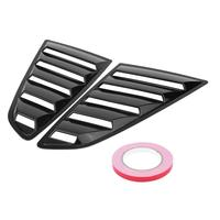 1Pair Glossy Black Left & Right Side Window Louver Scoop Cover Vent for Ford Mustang 2015 2017 Car Styling