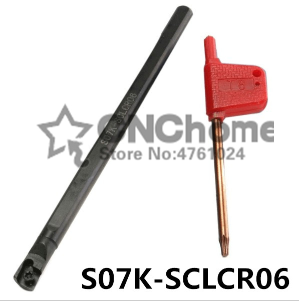 S07K-SCLCR06/S07K-SCLCL06 95 Degrees Internal Turning Tools, Turning Tool Holder, Insert The Lather,boring Bar For CCMT060204