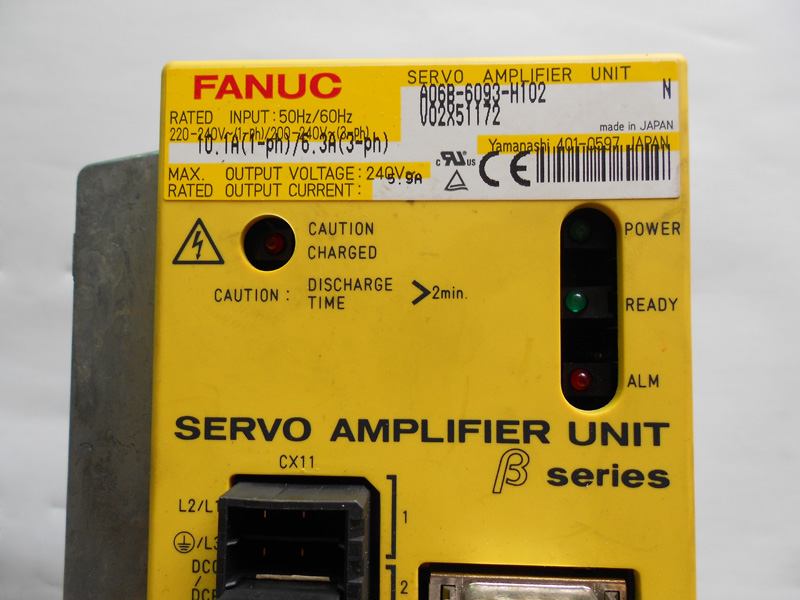 цена на FANUC servo drive amplifier a06b-6093-h102 a06b-6093-h101 BETA SERIES SVU-12 12 AMP
