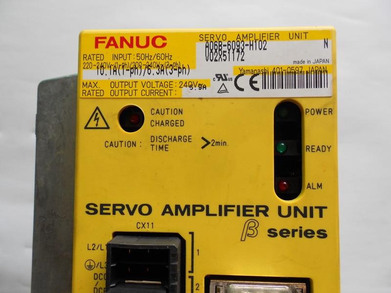 FANUC servo drive amplifier a06b-6093-h102 a06b-6093-h101 BETA SERIES SVU-12 12 AMP fanuc servo drive amplifier a06b 6093 h102 a06b 6093 h101 beta series svu 12 12 amp