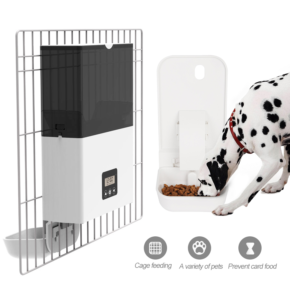 Pet Dog Automatics Feeder Hanging Pet Cage Timing Quantitative Automatic Feeder Automatic Pets Feeder-in Dog Feeding from Home & Garden    1