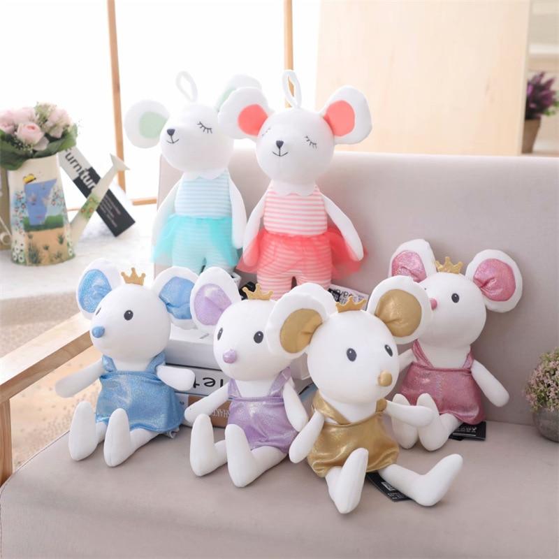 30cm Cute Mouse Doll Plush Toys Stuffed Animal Small Children Toy Creative Girls Ragdoll Gift