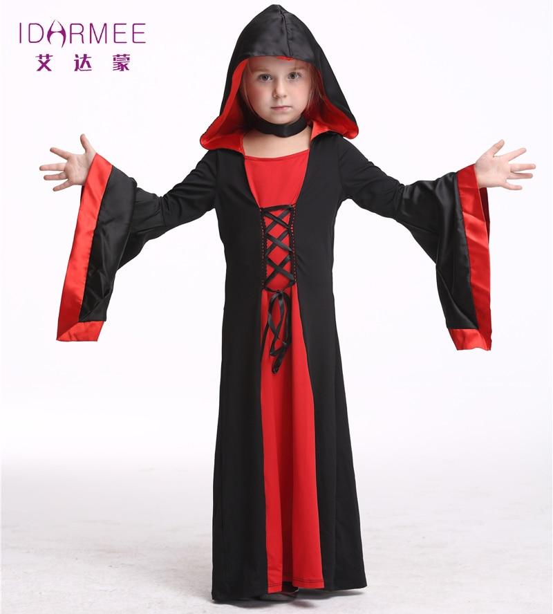 idarmee girls vampire costume halloween costumes for kids cosplay theater bat vampire costume little girl s9070