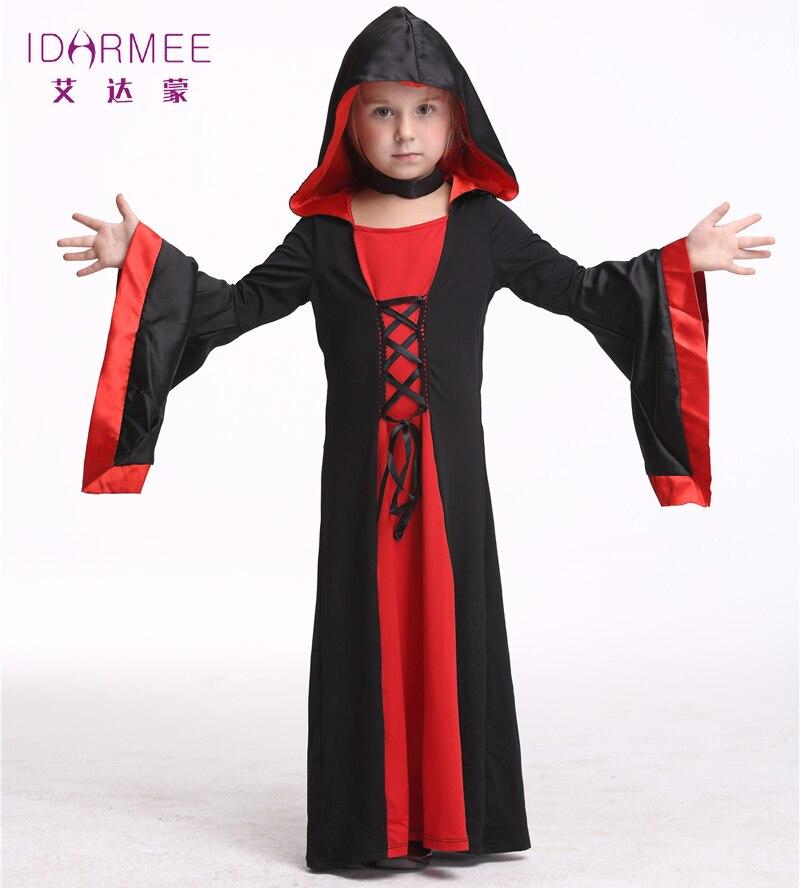 idarmee girls vampire costume halloween costumes for kids cosplay theater bat vampire costume little girl s9070 - Halloween Costumes Vampire For Girls