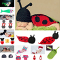 2016 Latest Crochet Baby Sleeping Bags Infant Newborn Photography Props Cocoon Baby Accessory 1pc  MZS-14021