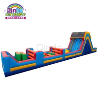 Hot selling backyard blow up inflatable bouncy obstacle course rental for kids