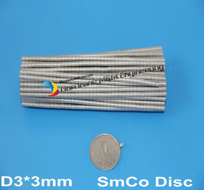 1 pack SmCo Magnet Disc Dia. 3x3 mm Cylinder Grade YXG24H 350 Degree C High Operating Temp. Permanent Magnets Rare Earth Magnets 41 1mm 350 cylinder