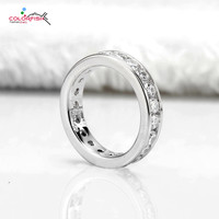 COLORFISH Luxury 4.92 Carat 925 Sterling Silver Wedding Band Full Channel Set Round Cut SONA Stone Engagement Jewelry Match Ring