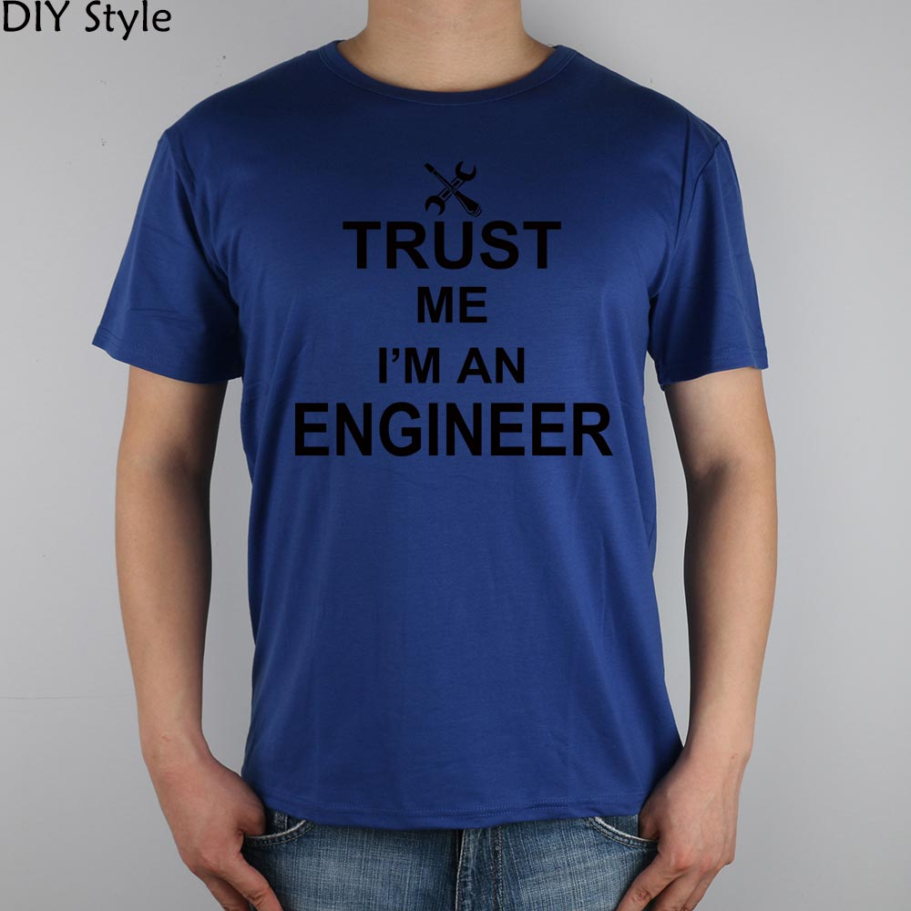 TRUST ME OI AM A INGINEER Camiseta Top Lycra Cotton Men camiseta - Ropa de hombre