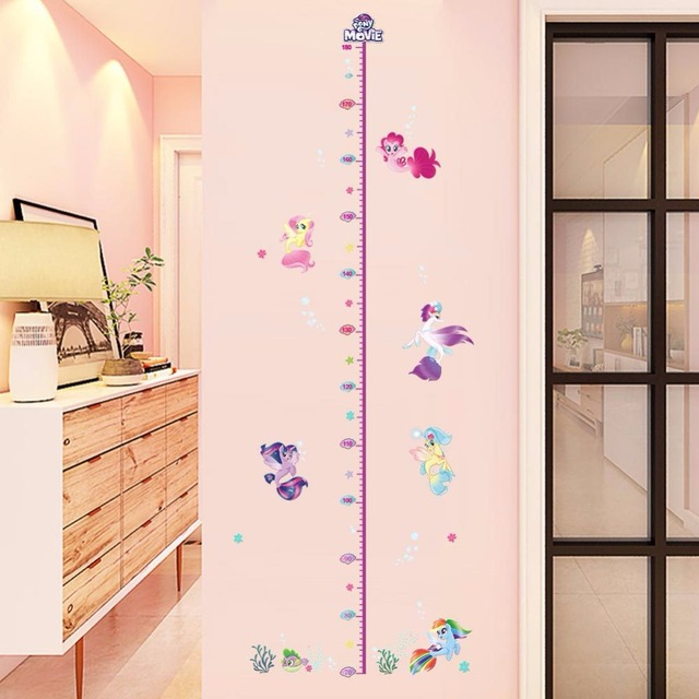 New Cartoon My Little Horse Height Measure Sticker Kids Growth Chart