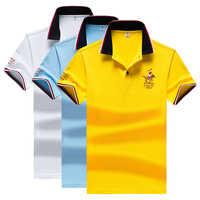 Camicia di Polo Degli Uomini di Alta Qualità Degli Uomini del Poliestere Maniche Corte Vestito Da Estate Camicia di Marca Jersey Polo Hombre Formato M-4XL Dropshipping